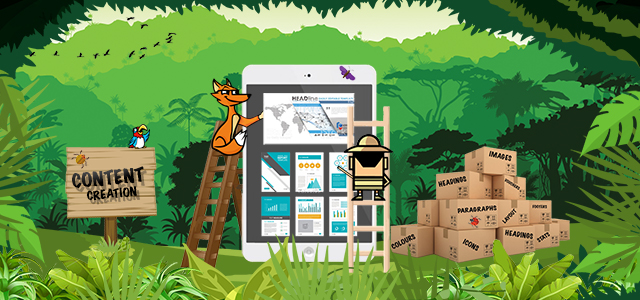 The content creation process for the digital jungle