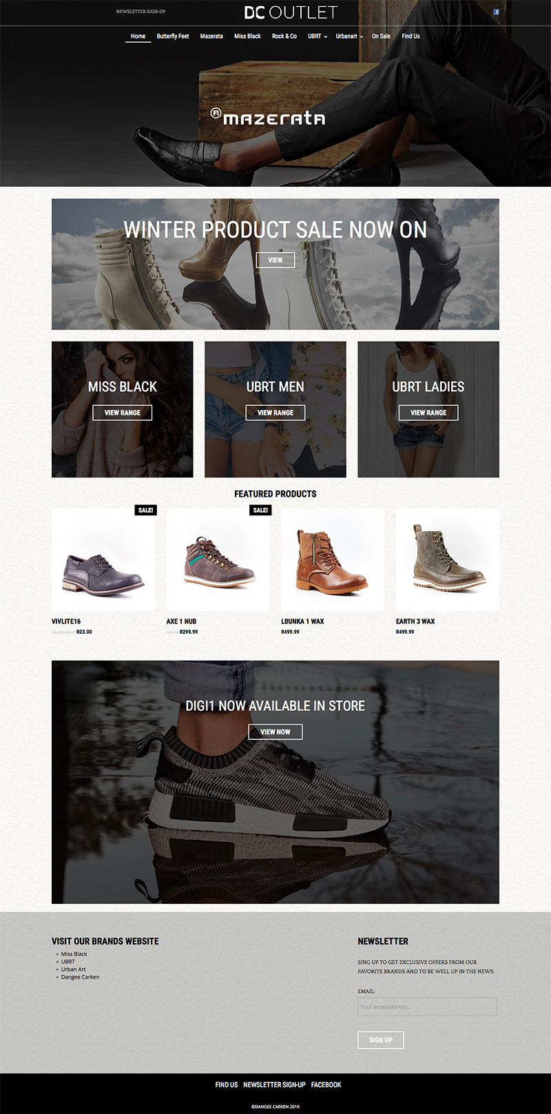 DC1 Outlet Online Store